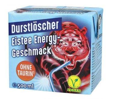 Durstlöscher Eistee Energy Geschmack