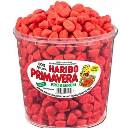 Haribo Kleine Erdbeeren Primavera Schaumzucker, 500 Stk