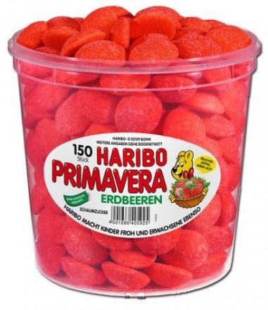 Haribo Primavera Erdbeeren Schaumzucker, 150 stück