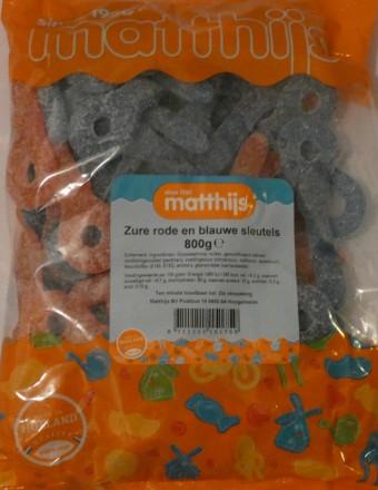 Matthijs saure rote und blaue Schnuller