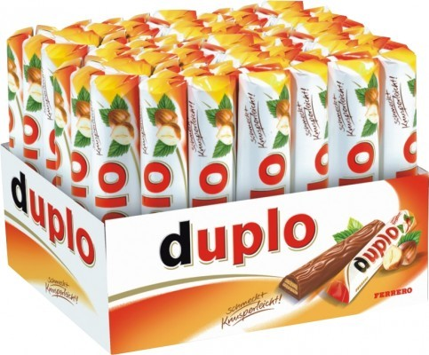 Ferrero Duplo, Riegel, 40 Riegel im Kassendisplay